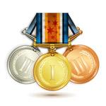 精美金银铜奖牌