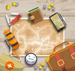 桌上旅行物品