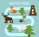 5个森林动物矢量