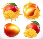 美味芒果和芒果汁