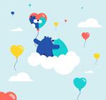 云上的情侣熊