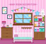 彩色婴儿房家居