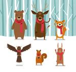 雪地中的动物