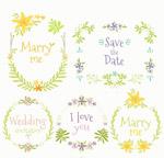 彩色婚礼花环