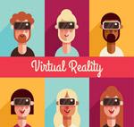戴VR头显的人物头像