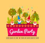 花园派对海报