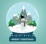 雪人雪花玻璃球