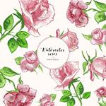 粉色玫瑰无缝背景