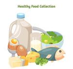卡通健康食物