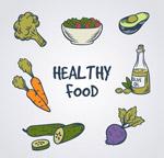 彩绘健康食物