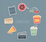 彩色电影元素贴纸
