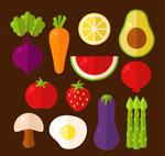 扁平化蔬菜和水果