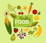 扁平化健康食物