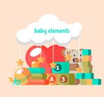 扁平化婴儿玩具