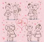 手绘情侣设计