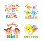 可爱儿童产品标志