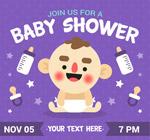 迎婴派对邀海报
