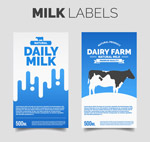 新鲜牛奶标签