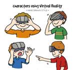 戴VR头显的男孩