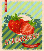 复古草莓宣传海报