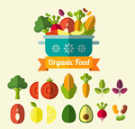 有机蔬菜矢量