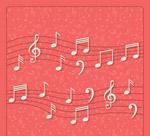 白色五线谱音符