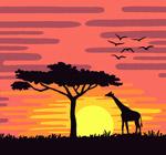 夕阳下的非洲