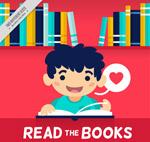 可爱读书男孩