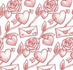 情��和玫瑰背景