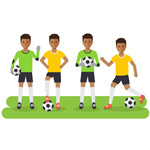 创意踢足球男子