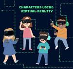戴VR头显的人物