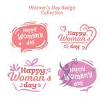 妇女节快乐徽章