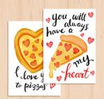披萨爱心卡片