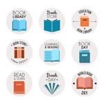 彩色书籍标志