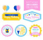生日标签和徽章