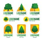 绿色树木标志