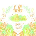 你好秋季彩绘植物