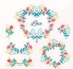 彩绘花束和花环