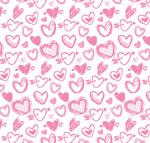 粉色爱心无缝背景