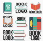 彩色质感书本标志