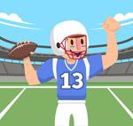 美式橄榄球球手