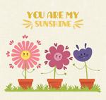 可爱表情花朵盆栽