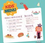 女厨师儿童菜单
