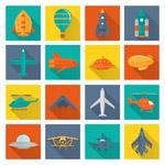 彩色飞行工具图标