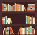 扁平化三层书架