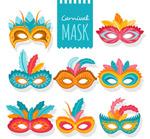 彩色狂欢节面具