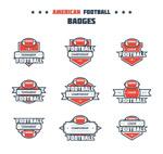创意美式橄榄球徽章