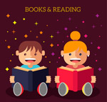 读书的儿童