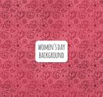 妇女节无缝背景