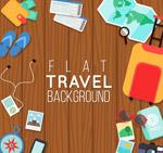 扁平化旅行元素